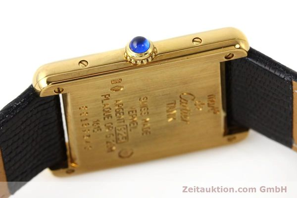 Used luxury watch Cartier Tank silver-gilt quartz  | 140525 08
