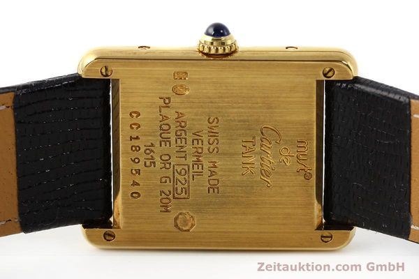 Used luxury watch Cartier Tank silver-gilt quartz  | 140525 09
