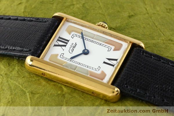 Used luxury watch Cartier Tank silver-gilt quartz  | 140525 11