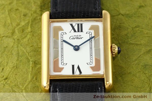 Used luxury watch Cartier Tank silver-gilt quartz  | 140525 12
