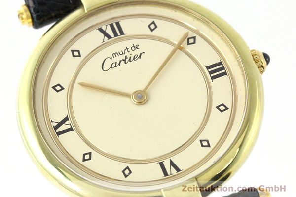 Used luxury watch Cartier Vermeil silver-gilt quartz Kal. 690  | 140527 02