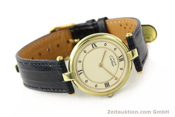 Used luxury watch Cartier Vermeil silver-gilt quartz Kal. 690  | 140527 03
