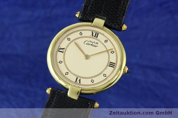 Used luxury watch Cartier Vermeil silver-gilt quartz Kal. 690  | 140527 04
