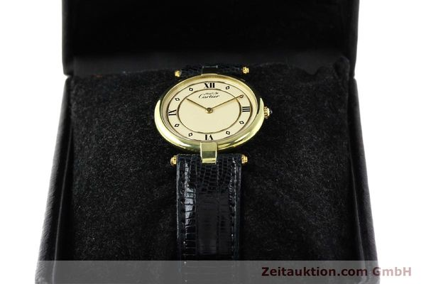 Used luxury watch Cartier Vermeil silver-gilt quartz Kal. 690  | 140527 07