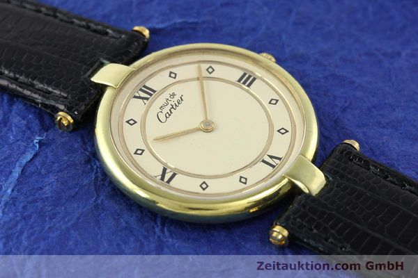 Used luxury watch Cartier Vermeil silver-gilt quartz Kal. 690  | 140527 11