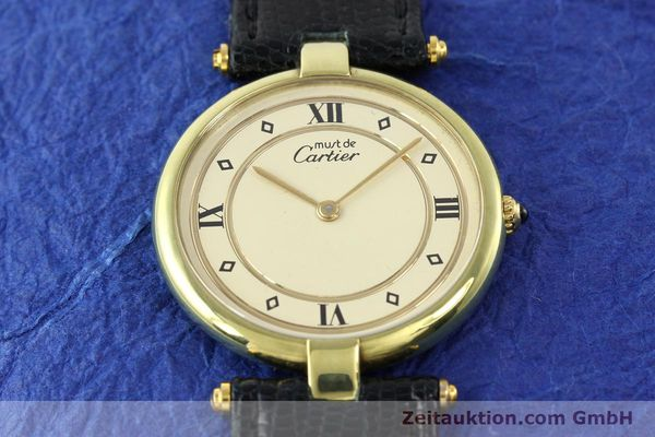 Used luxury watch Cartier Vermeil silver-gilt quartz Kal. 690  | 140527 12