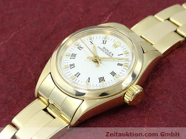 Used luxury watch Rolex Oyster Perpetual 14 ct yellow gold automatic Kal. 2030 Ref. 6718  | 140548 01
