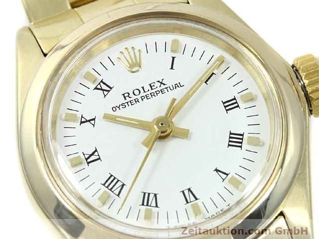 Used luxury watch Rolex Oyster Perpetual 14 ct yellow gold automatic Kal. 2030 Ref. 6718  | 140548 02