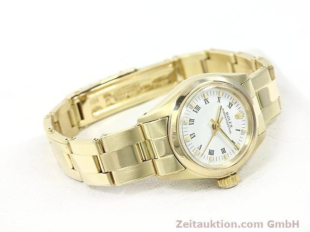 Used luxury watch Rolex Oyster Perpetual 14 ct yellow gold automatic Kal. 2030 Ref. 6718  | 140548 03