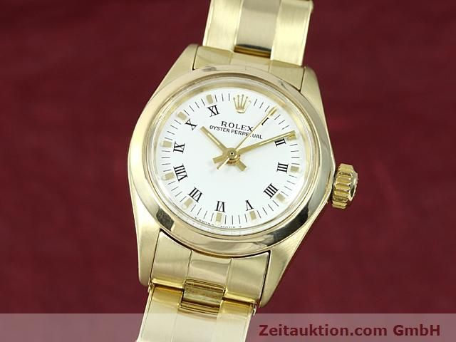 Used luxury watch Rolex Oyster Perpetual 14 ct yellow gold automatic Kal. 2030 Ref. 6718  | 140548 04