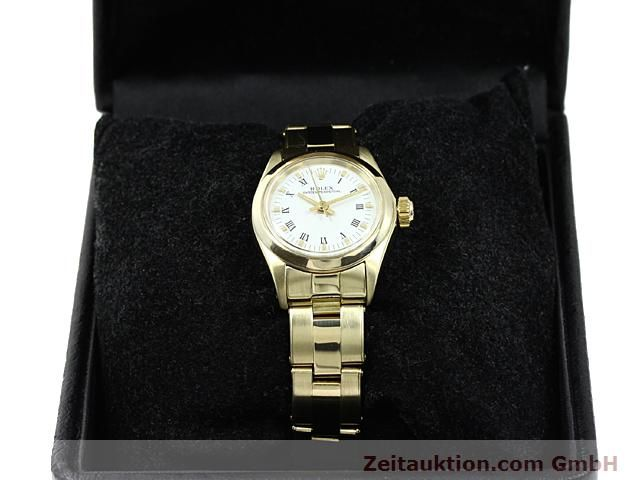Used luxury watch Rolex Oyster Perpetual 14 ct yellow gold automatic Kal. 2030 Ref. 6718  | 140548 07