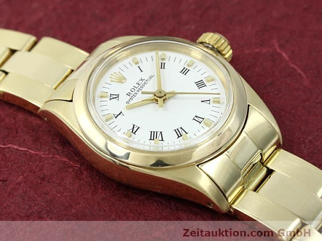 Used luxury watch Rolex Oyster Perpetual 14 ct yellow gold automatic Kal. 2030 Ref. 6718  | 140548 15