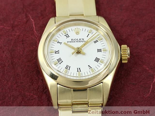 Used luxury watch Rolex Oyster Perpetual 14 ct yellow gold automatic Kal. 2030 Ref. 6718  | 140548 16