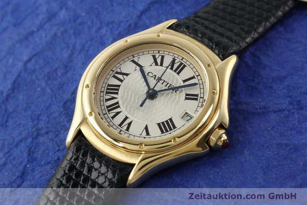 Used luxury watch Cartier Cougar 18 ct gold quartz Kal. 87.06  | 140552 01