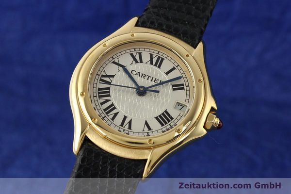 Used luxury watch Cartier Cougar 18 ct gold quartz Kal. 87.06  | 140552 04
