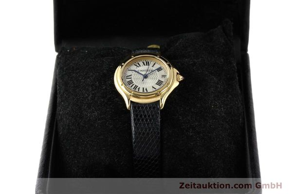 Used luxury watch Cartier Cougar 18 ct gold quartz Kal. 87.06  | 140552 07