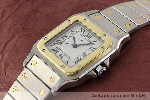 Used luxury watch Cartier Santos steel / gold automatic  | 140555 01