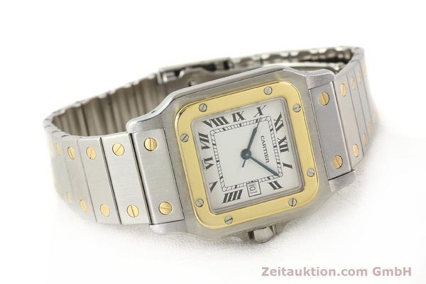 Used luxury watch Cartier Santos steel / gold automatic  | 140555 03