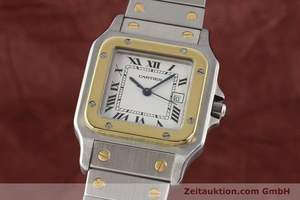 Used luxury watch Cartier Santos steel / gold automatic  | 140555 04