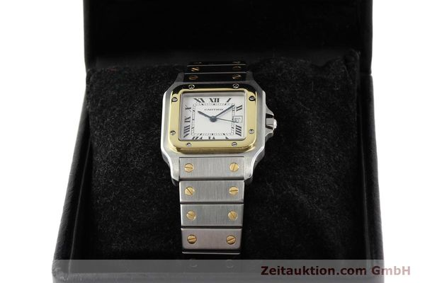 Used luxury watch Cartier Santos steel / gold automatic  | 140555 06