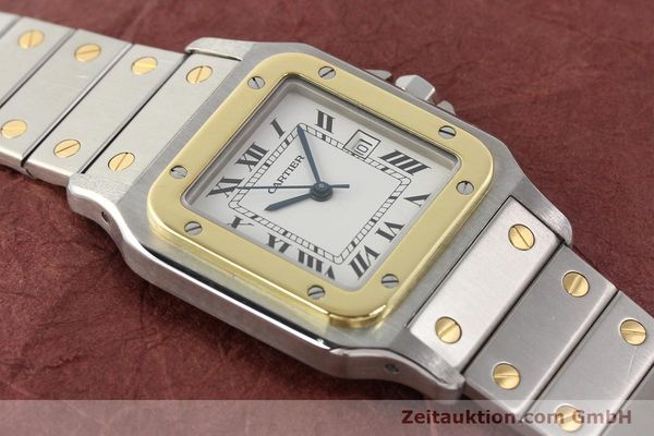 Used luxury watch Cartier Santos steel / gold automatic  | 140555 11