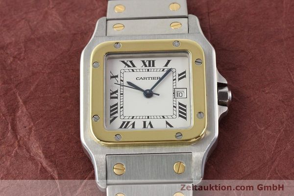 Used luxury watch Cartier Santos steel / gold automatic  | 140555 12