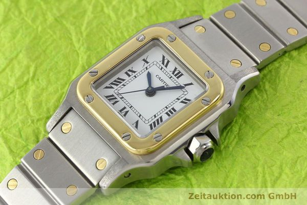 Used luxury watch Cartier Santos steel / gold automatic  | 140560 01