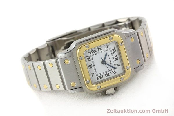 Used luxury watch Cartier Santos steel / gold automatic  | 140560 03