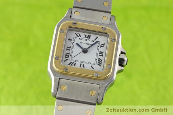 Used luxury watch Cartier Santos steel / gold automatic  | 140560 04