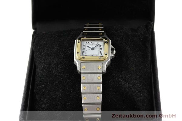 Used luxury watch Cartier Santos steel / gold automatic  | 140560 07
