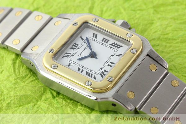 Used luxury watch Cartier Santos steel / gold automatic  | 140560 12