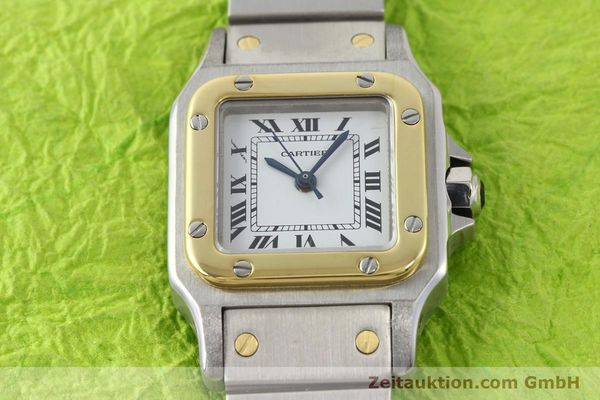 Used luxury watch Cartier Santos steel / gold automatic  | 140560 13