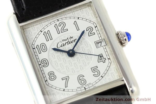 Used luxury watch Cartier Tank silver quartz VINTAGE  | 140562 02
