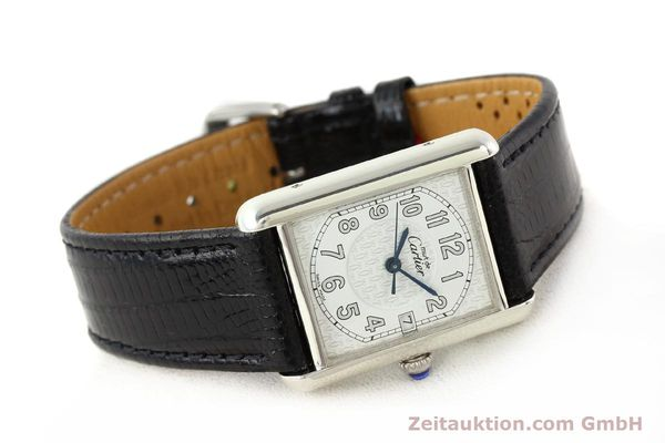 Used luxury watch Cartier Tank silver quartz VINTAGE  | 140562 03