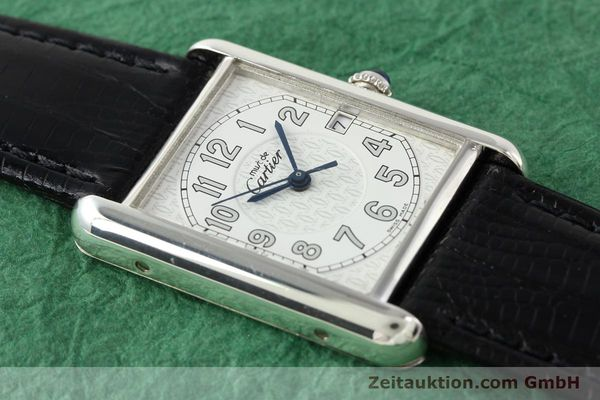 Used luxury watch Cartier Tank silver quartz VINTAGE  | 140562 12