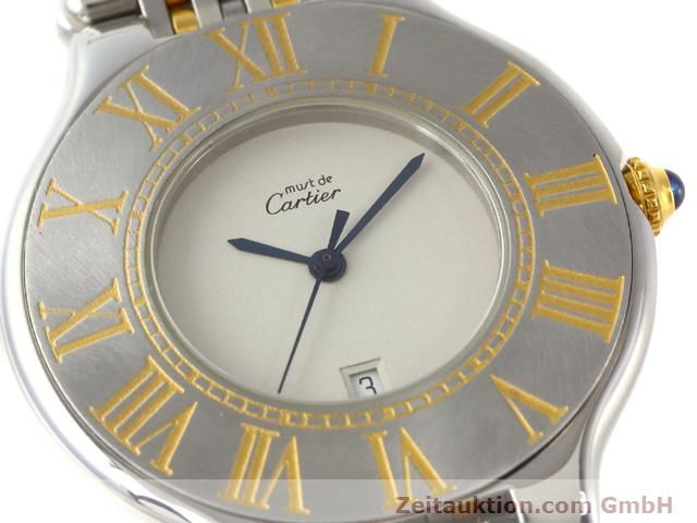 Used luxury watch Cartier Ligne 21 gilt steel quartz Kal. 87.06  | 140565 02