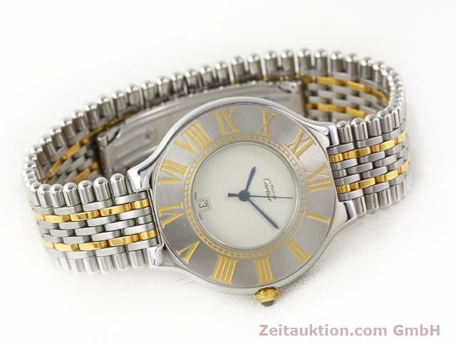 Used luxury watch Cartier Ligne 21 gilt steel quartz Kal. 87.06  | 140565 03