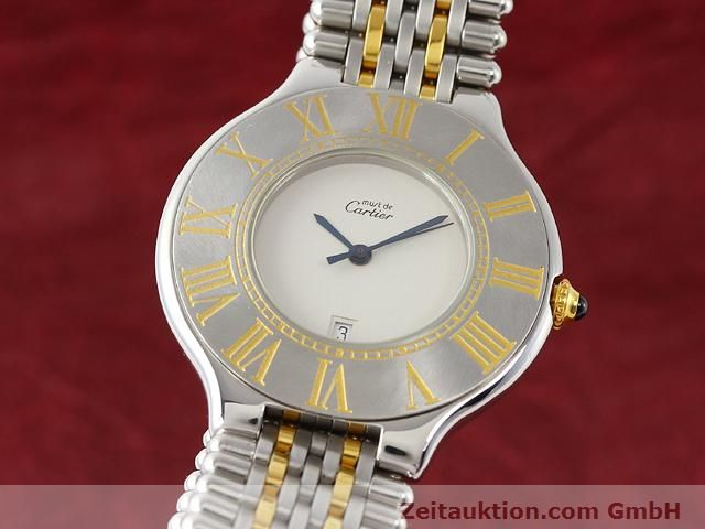 Used luxury watch Cartier Ligne 21 gilt steel quartz Kal. 87.06  | 140565 04