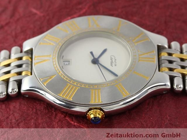 Used luxury watch Cartier Ligne 21 gilt steel quartz Kal. 87.06  | 140565 05