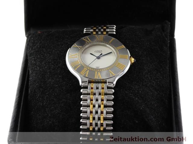 Used luxury watch Cartier Ligne 21 gilt steel quartz Kal. 87.06  | 140565 07