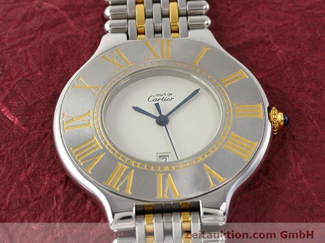 Used luxury watch Cartier Ligne 21 gilt steel quartz Kal. 87.06  | 140565 12