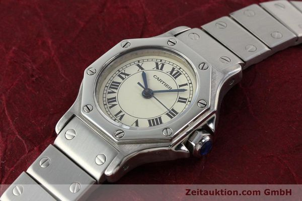 Used luxury watch Cartier Santos steel automatic  | 140568 01