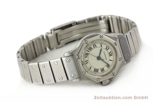 Used luxury watch Cartier Santos steel automatic  | 140568 03