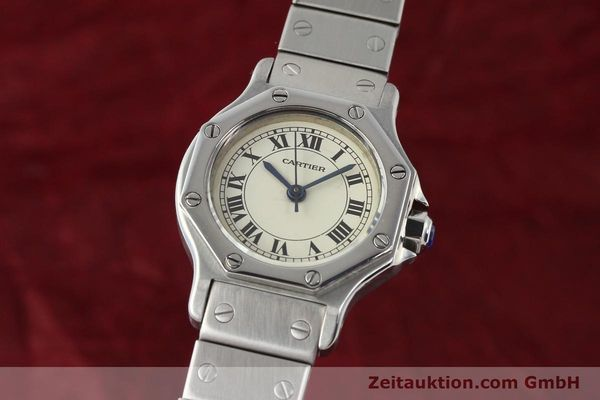 Used luxury watch Cartier Santos steel automatic  | 140568 04