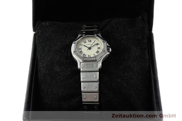 Used luxury watch Cartier Santos steel automatic  | 140568 07