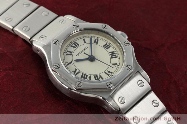 Used luxury watch Cartier Santos steel automatic  | 140568 14