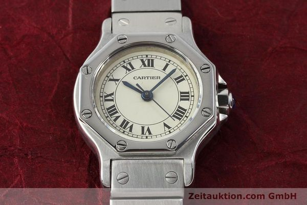 Used luxury watch Cartier Santos steel automatic  | 140568 15