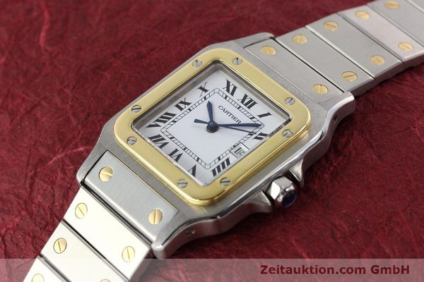 Used luxury watch Cartier Santos steel / gold automatic  | 140571 01