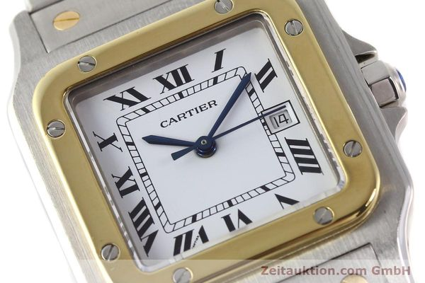 Used luxury watch Cartier Santos steel / gold automatic  | 140571 02