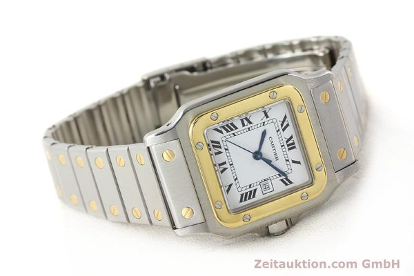 Used luxury watch Cartier Santos steel / gold automatic  | 140571 03